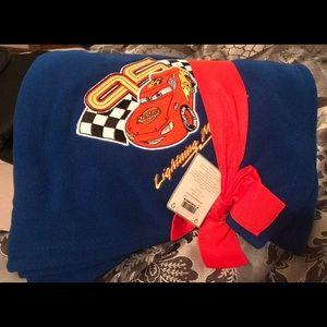 NWT Disney Store Lightning McQueen blanket